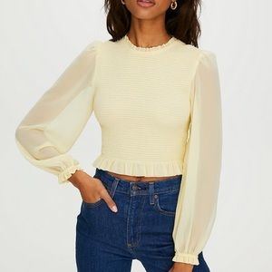 Aritzia LILITH long sleeve crop
